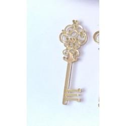 Ключ №3, 58х19мм зеркальный акрил
