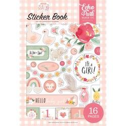 Набор наклеек Sticker Book Welcome Baby Girl 8 л. Echo Park
