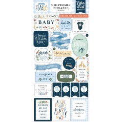 Чипборд WELCOME BABY BOY 15*30 см, Echo Park Paper