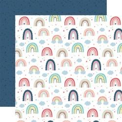 Лист скрапбумаги Rainbow Magic Little Dreamer Girl 30*30см, Echo Park
