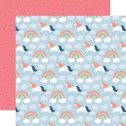 Лист скрапбумаги Riding Rainbows Little Dreamer Girl 30*30см, Echo Park