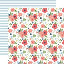 Лист скрапбумаги Dreamy Floral Little Dreamer Girl 30*30см, Echo Park