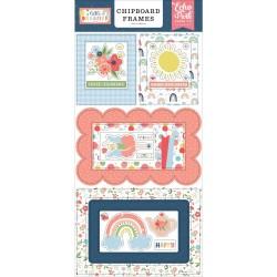 Чипборд Little Dreamer Girl FRAMES 15*30 см, Echo Park Paper