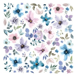 Высечки  Watercolor Floral , 77 шт  Prima Marketing