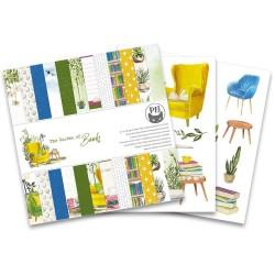 Набор бумаги The Garden Of Books 15*15см, 12 л P13