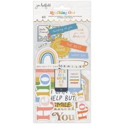 Набор высечек Jen Hadfield Reaching Out Ephemera Cardstock Die-Cuts 40/Pkg, American Crafts