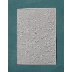 Картон с тиснением Веточки с цветочками 14,5*10 см