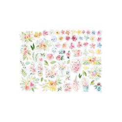 Чипборд Circle Of Love Flowers,  Stamperia, 84 шт