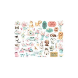 Чипборд Circle Of Love Cats & Dogs,  Stamperia, 46шт