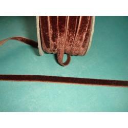 Тесьма велюровая, коричневая, ширина - 0,6 см