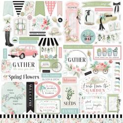 Наклейки Flower Garden, 30*30 см, Carta Bella