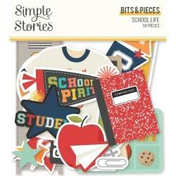 Высечки School Life Bits & Pieces 59/Pkg, Simple Stories