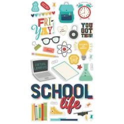 Чипборд School Life, 15*30 см, Simple Stories