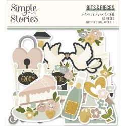 Высечки Happily Ever After 60/Pkg, Simple Stories