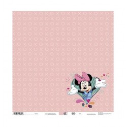 Лист скрапбумаги Minnie Pink Heart - 30,5х30,5см - Disney