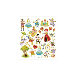 Наклейки The World Of Alice, 16.5*15 см, Sticker King
