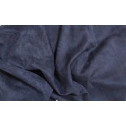 Замш Темно-синий на дайвинге 25*37 см