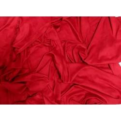 Замш двухсторонняя Красный (алый), средней плотности 25*37см