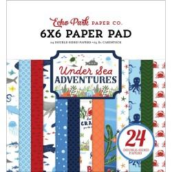 Набор бумаги Under Sea Adventures 15*15см, 12 л Echo Park