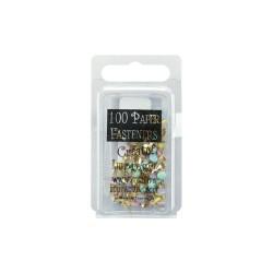 Набор брадсов Пастельный Микс 100 шт Mini Metal Paper Fasteners 3mm