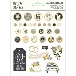 Набор брадс Happily Ever After Decorative Brads 27/Pkg Simple Stories