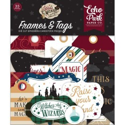 Высечки Frames & Tags, Witches & Wizards 2, 33шт Echo Park Paper