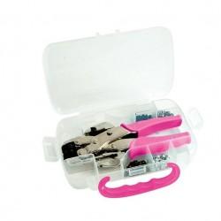 Установщик люверсов Pink Crop-A-Dile Punch Kit с чемоданом и люверсами