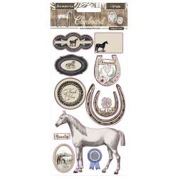 Чипборд  HORSES 15*30 см,  Stamperia