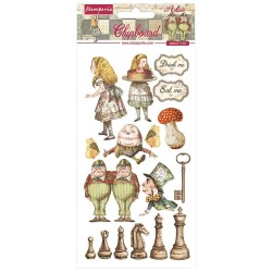 Чипборд Alice Through The Looking Glass 15*30 см,  Stamperia