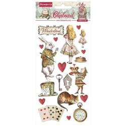 Чипборд Alice In Wonderland 15*30 см,  Stamperia