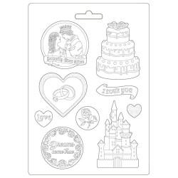 Молд Castle & Cake, Sleeping Beauty Maxi Mould A4 Stamperia