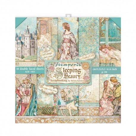 Набор бумаги Sleeping Beauty 15*15см, 10л Stamperia