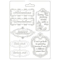 Молд Alice In Wonderland Plates Mould A5