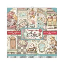 Набор бумаги Alice Through The Looking Glass 15*15см, 10л Stamperia