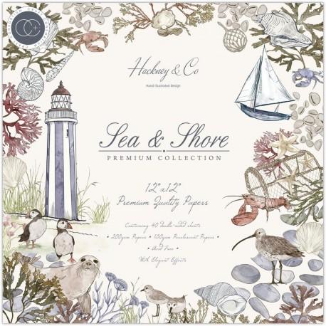 Набор бумаги Sea & Shore 30*30см, 10 л Craft Consortium