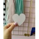 Заготовка  Сердце, 6 см, толщина 2мм для тиснения на замше