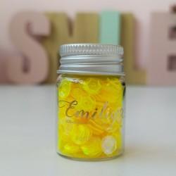 Набор пайеток Желтые прозрачные с жемчужным блеском, 6мм, 12 мл