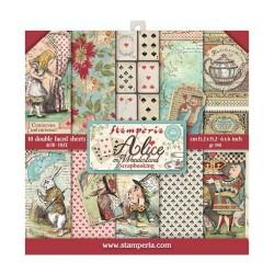 Набор бумаги Alice In Wonderland 15*15см, 10л Stamperia
