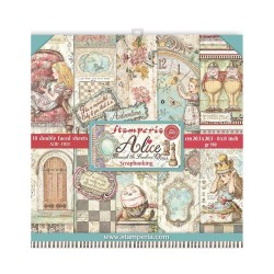 Набор бумаги Alice Through The Looking Glass 20*20см, 10л Stamperia