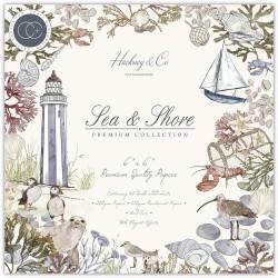 Набор бумаги Sea & Shore 15*15см, 10 л Craft Consortium