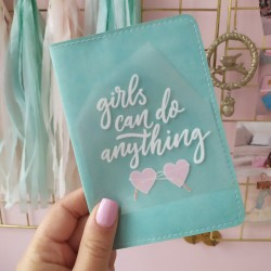 Картинка для термопереноса Girls can do anything  8х7 см
