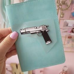 Картинка для термопереноса Пистолет 4х6 см