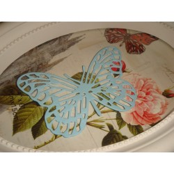 Вырубка Бабочка голубая 7,5 см*5 см, шт.