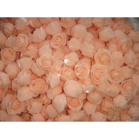 Бутон розы персиковый, 2,5 см, латекс, 5 шт