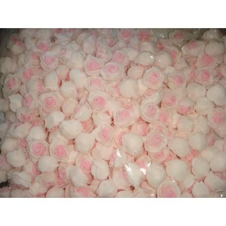 Бутон розы бело-розовый, 2,5 см, латекс, 5 шт