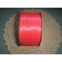 Лента атласная ярко-розовая, 3мм