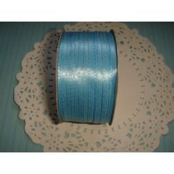 Лента атласная голубая, 3мм