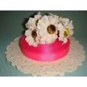 Лента репсовая ярко-розовая, 12 мм