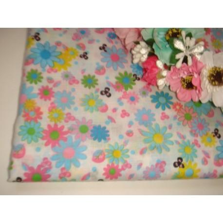 Ткань в цветочках, хлопок, 50*50 см