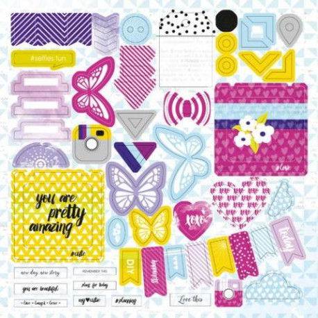 Высечки Lemon Owl - Plans for Today, Die Cuts №01, 30х30 см